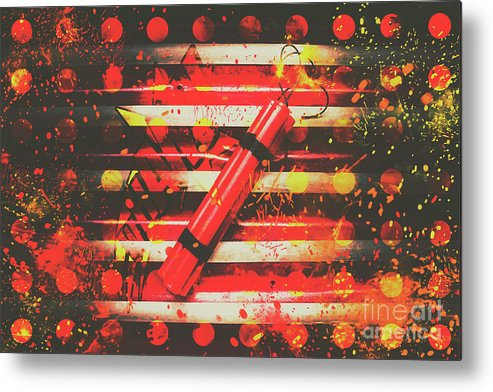 Explode Metal Print featuring the photograph Dynamite Artwork by Jorgo Photography - Wall Art Gallery