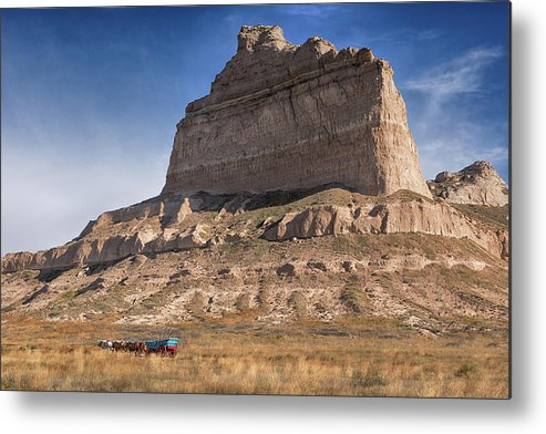 Scotts Bluff Metal Print featuring the photograph Eagle Rock by Susan Rissi Tregoning