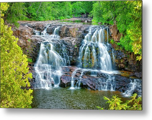 Gooseberry Metal Print featuring the photograph Early Morning At The Upper Falls by Roderick Bley