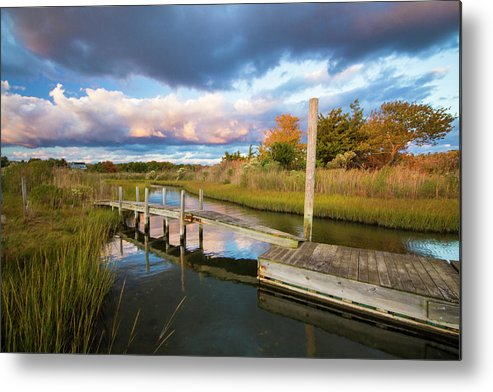 East Metal Print featuring the photograph East Moriches Reflections by Robert Seifert