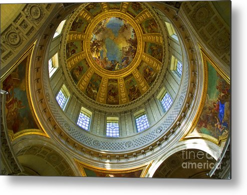 Baroque Architecture Metal Print featuring the photograph Eglise Du Dome Church Paris by Charuhas Images