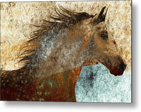Mane Metal Print featuring the photograph Electric Mane by Nick Sokoloff