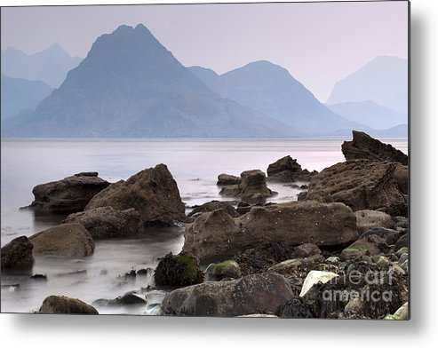 Orange Metal Print featuring the photograph Elgol by Andre Goncalves