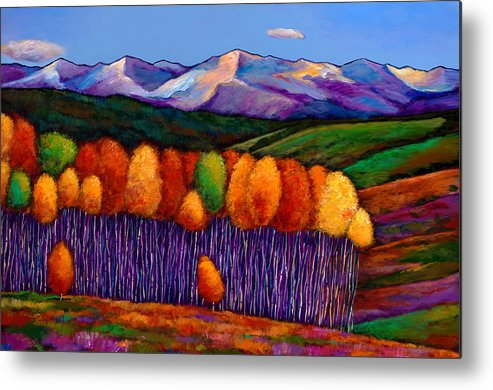 Aspen Trees Metal Print featuring the painting Elysian by Johnathan Harris