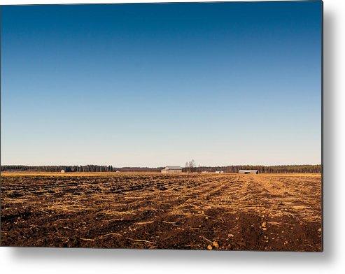 Finland Metal Print featuring the photograph Empty Potato Fields by Jukka Heinovirta