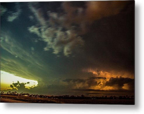 Nebraskasc Metal Print featuring the photograph Epic Nebraska Lightning 006 by NebraskaSC