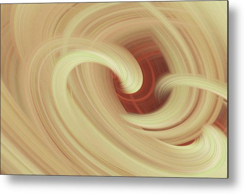 Abstract Metal Print featuring the photograph Essence Of Mellow Yellow by Linda Phelps