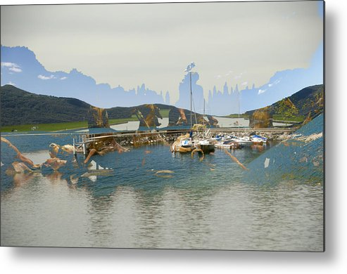 Abstract Landscape Metal Print featuring the photograph Ete 2009 by Mary Mansey