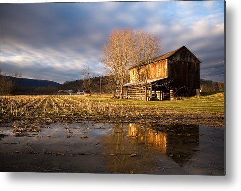 Farm Metal Print featuring the photograph eve by Kevin Brett