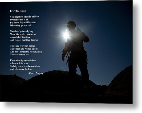 Inspirational Metal Print featuring the photograph Everyday Heroes by Robert Longley