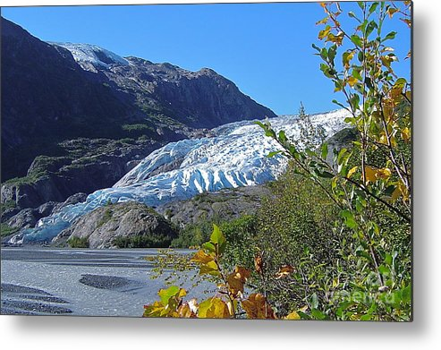 Glacier Metal Print featuring the photograph Exit by Rick Monyahan