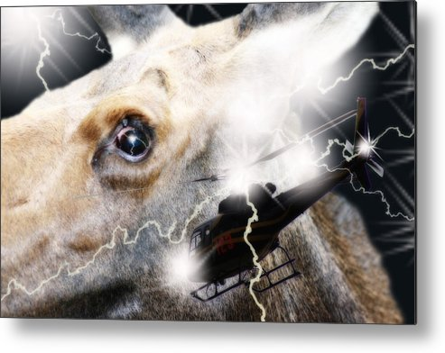 Threatened Metal Print featuring the digital art Extreme Fear by Cathy Beharriell