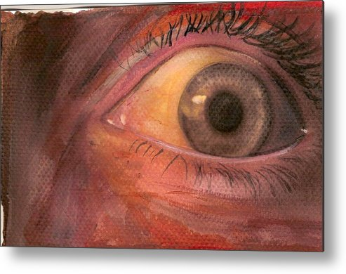 Modern Metal Print featuring the painting Eye by Ena Carroll