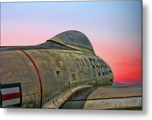 Republic F-84g Thunderjet Metal Print featuring the photograph F-84g Thunderjet by Tommy Anderson
