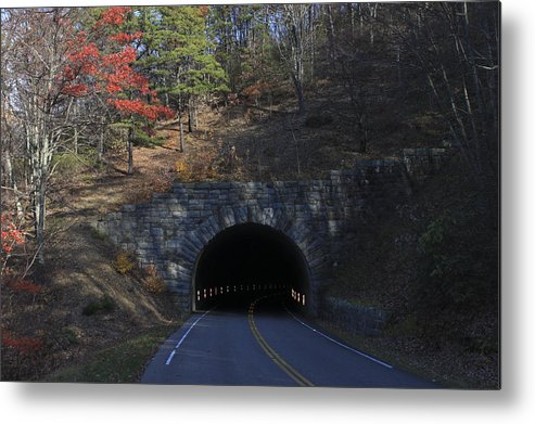 Mountain Metal Print featuring the photograph Fall At Bluff Mountain Tunnel by Vincent Case