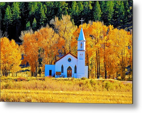 Church Metal Print featuring the photograph Fall Church by Bob Welch
