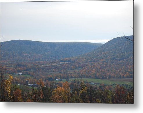 Mountain Metal Print featuring the photograph Fall Colors In Nippenose Valley by Richard Botts