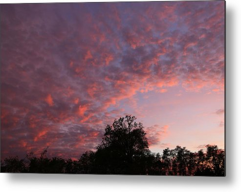 Clouds Metal Print featuring the photograph Fall Sunset by Mark Salamon
