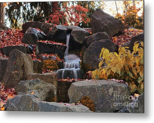 Waterfall Metal Print featuring the photograph Fall Waterfall by Karen Goodwin