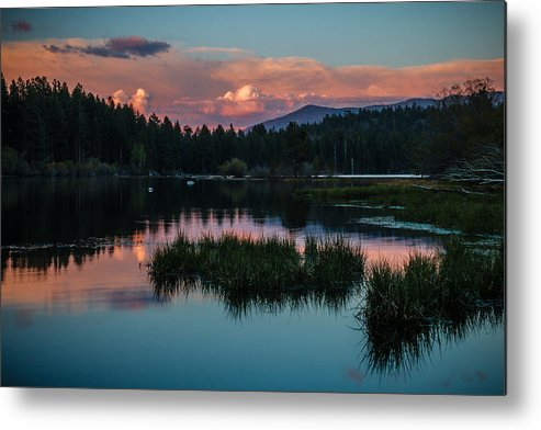 Sunset Metal Print featuring the photograph Fallen Leaf Sunset Serenity by Mike Herron