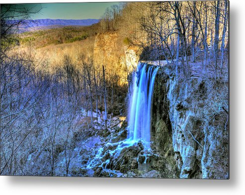 Falling Spring Falls Metal Print featuring the photograph Falling Spring Falls by Don Mercer