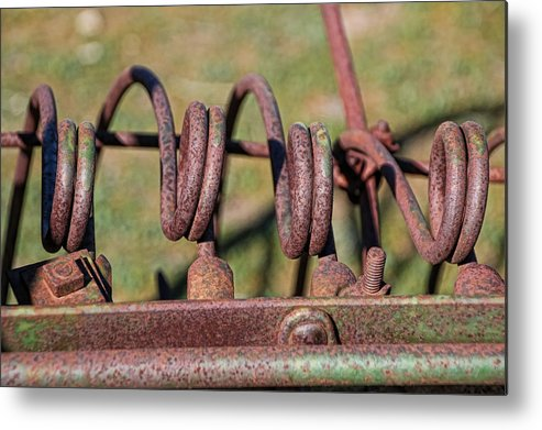 Antelope Island Metal Print featuring the photograph Farm Equipment 7 by Ely Arsha