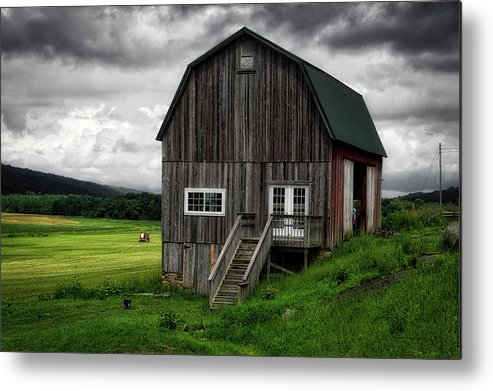 Finger Lakes New York Metal Print featuring the photograph Farming New York State Before The July Storm 01 by Thomas Woolworth