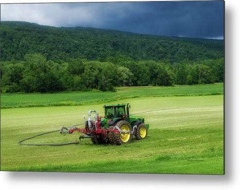 Finger Lakes New York Metal Print featuring the photograph Farming New York State Before The July Storm 02 by Thomas Woolworth