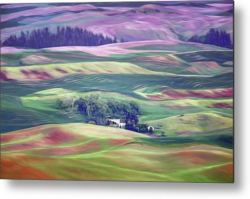 Farmland Metal Print featuring the photograph Farmland Colors - No. 1 by Nikolyn McDonald