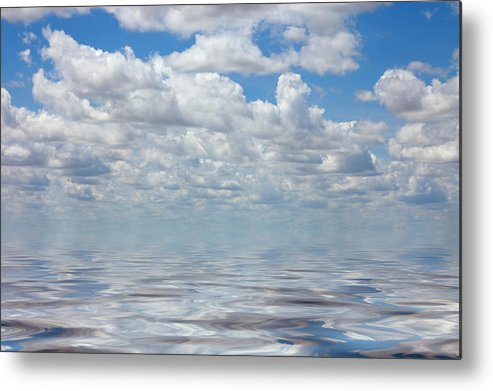 Cloud Metal Print featuring the photograph Featherly by Jerry McElroy