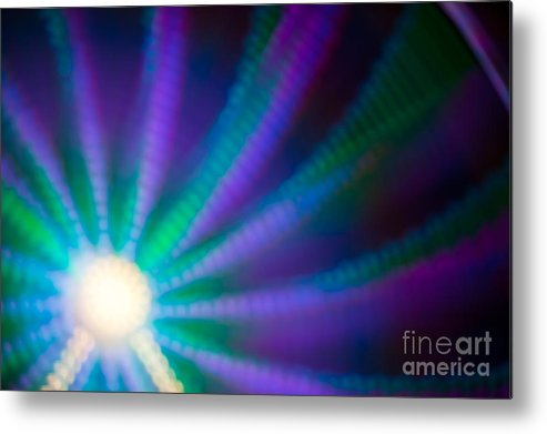 Abstract Metal Print featuring the photograph Ferris Wheel Abstract Ix by Irene Abdou