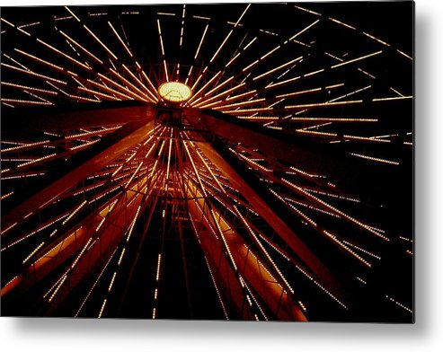 Ferris Wheel Metal Print featuring the photograph Ferris Wheel by Jennifer Englehardt