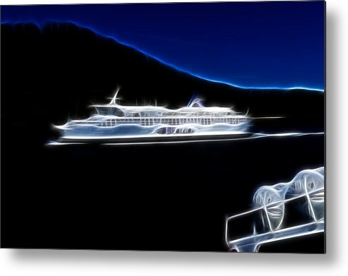 British Columbia Metal Print featuring the photograph Ferry In Active Pass by Lawrence Christopher