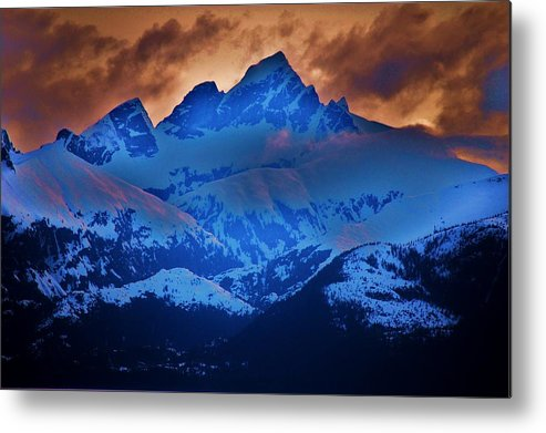 Alaskan Cruise Metal Print featuring the photograph Fire On The Mountain by Helen Carson