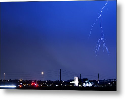 Boulder Metal Print featuring the photograph Fire Rescue Station 67 Lightning Thunderstorm 2 by James BO Insogna