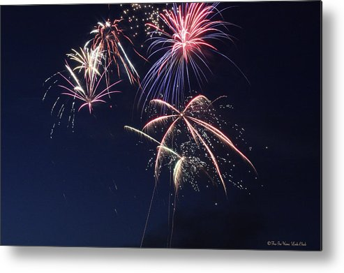 Fireworks Metal Print featuring the photograph Fireworks by Linda Ebarb