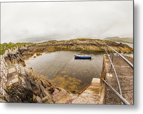 Fishing Boat Metal Print featuring the photograph Fishing Boat In Lambs Head Harbor by Ed James