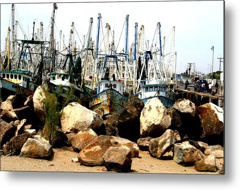 Fishing Metal Print featuring the photograph Fishing Boats by Bob Gardner