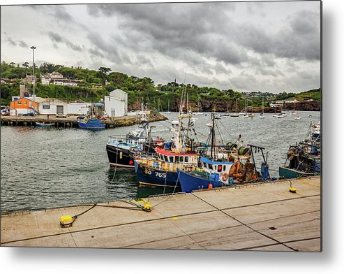 Fishing Metal Print featuring the photograph Fishing Boats by Ed James
