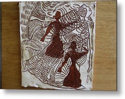 Gloria Photosgloria Photospineapple2pineapple Metal Print featuring the ceramic art Flamenco Passion 3 by Gloria Ssali