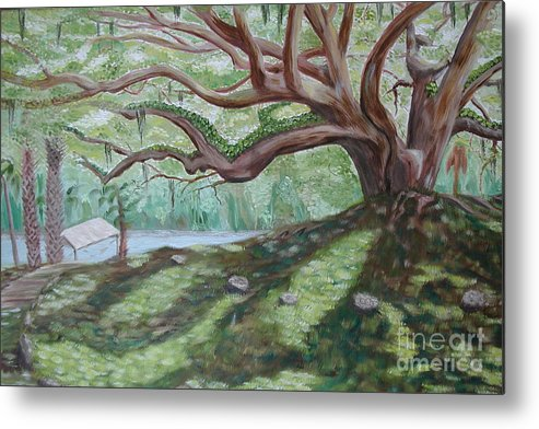 Landscape Metal Print featuring the painting Fletcher by Sodi Griffin