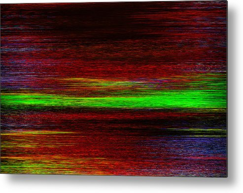 Abstract Metal Print featuring the digital art Flight Of Time by Alexey Bazhan