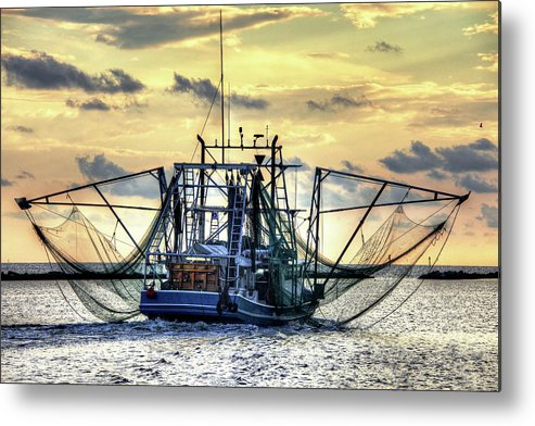 Shrimp Boat Metal Print featuring the photograph Float Like A Butterfly by Bo Lamey