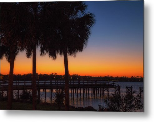 Blue Hour Metal Print featuring the photograph Florida Sunset by Cliff Middlebrook