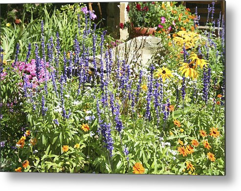 Flower Metal Print featuring the photograph Flower Garden by Margie Wildblood
