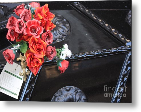 Italy Metal Print featuring the photograph Flowers On Gondola In Venice by Michael Henderson