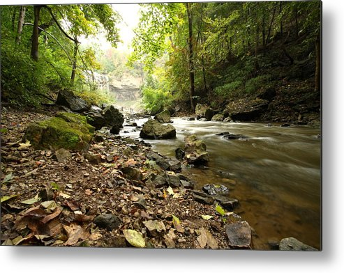 River Metal Print featuring the photograph Flowing River by Mark Platt