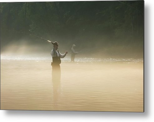 Man Metal Print featuring the photograph Fly Fishing by Betty LaRue