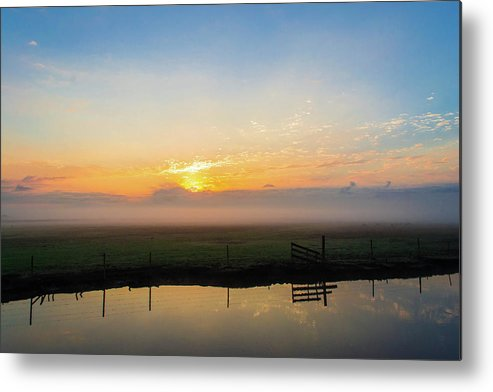 Sunrise Metal Print featuring the photograph Fog 1 by Shannon Harrington