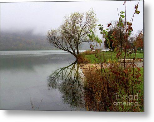Reflections Metal Print featuring the photograph Foggy Morning by Lowell Stevens